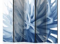 Paraván - Flower - blue dahlia II [Room Dividers]